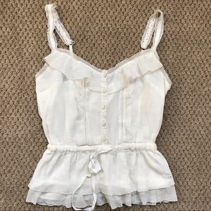 Abercrombie & Fitch Tank Top Cami White Small
